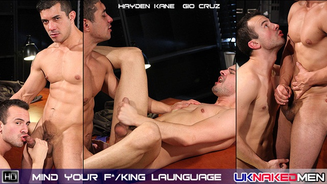 UK Naked Men Hayden Kane and Gio Cruz hot male on male fucking Download Full Stud Gay Porn Movies Here