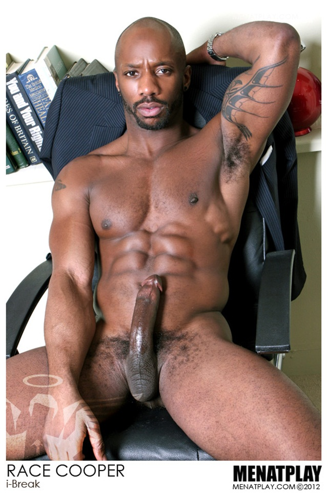 Black gay naked hunk Race Cooper at Men at Play 2 Ripped Muscle Bodybuilder Strips Naked and Strokes His Big Hard Cock photo1 - Race Cooper at Men at Play