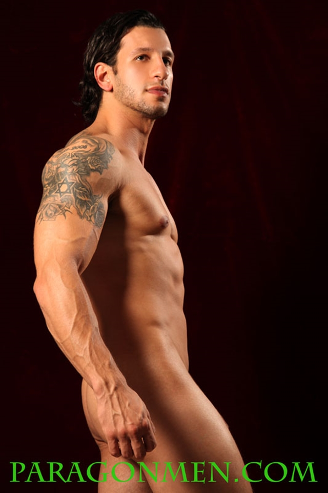Paragon Men hot sultry Ryan Sins Israeli Commando mixed martial arts beautiful tattooed muscle body thick dick 004 male tube red tube gallery photo - Ryan Sins