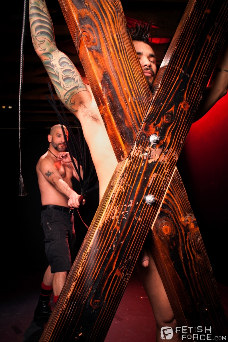 FistingCentral Tony Buff dark room Draven Torres St Andrews cross taskmaster Mohawk muscle flogging raised welts 011 tube download torrent gallery sexpics photo - Tony Buff and Draven Torres