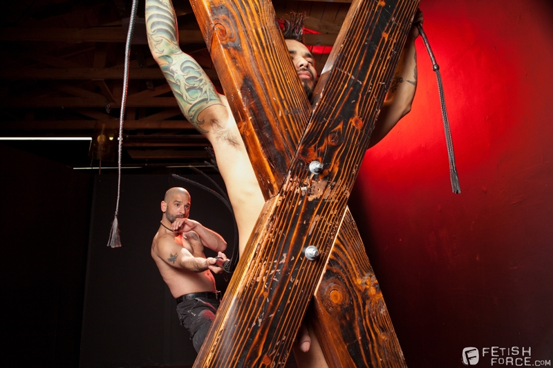 FistingCentral Tony Buff dark room Draven Torres St Andrews cross taskmaster Mohawk muscle flogging raised welts 012 tube download torrent gallery sexpics photo - Tony Buff and Draven Torres