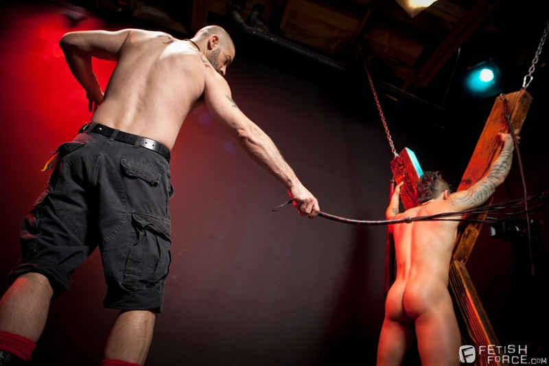 FistingCentral Tony Buff dark room Draven Torres St Andrews cross taskmaster Mohawk muscle flogging raised welts 014 tube download torrent gallery sexpics photo - Tony Buff and Draven Torres