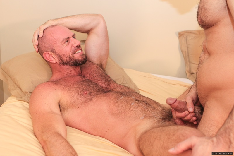 IconMale Adam Russo Matt Stevens strokes huge dick sexual hairy beard sexy men kissing rimming ass hole fit daddies fucking 12 gay porn star sex video gallery photo - Fit daddies kiss as Matt Stevens climbs onto Adam Russo sliding his muscular ass down onto his thick dick