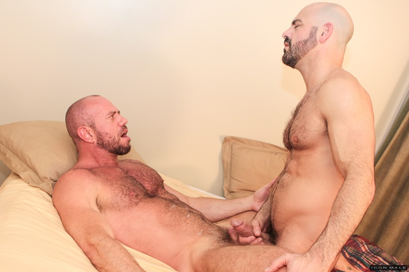 IconMale Adam Russo Matt Stevens strokes huge dick sexual hairy beard sexy men kissing rimming ass hole fit daddies fucking 13 gay porn star sex video gallery photo - Fit daddies kiss as Matt Stevens climbs onto Adam Russo sliding his muscular ass down onto his thick dick