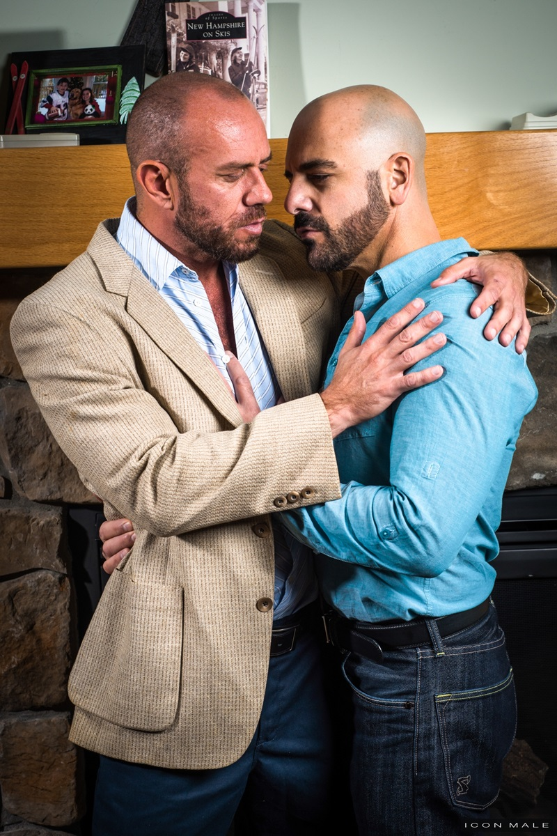 IconMale Adam Russo Matt Stevens strokes huge dick sexual hairy beard sexy men kissing rimming ass hole fit daddies fucking 16 gay porn star sex video gallery photo - Fit daddies kiss as Matt Stevens climbs onto Adam Russo sliding his muscular ass down onto his thick dick