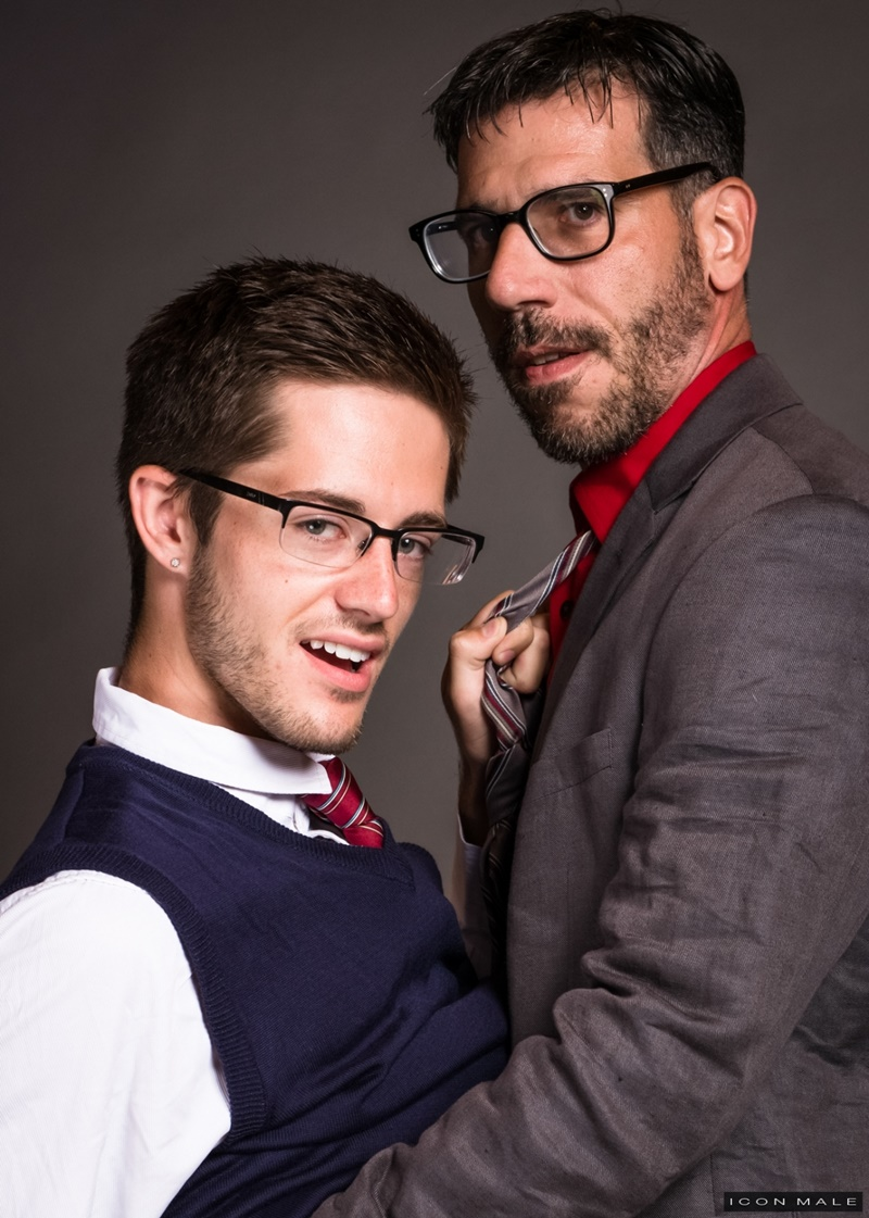 IconMale Bryce Acton Italian professor Tony Salerno dorm room young naked college student boy school uniform big thick dick low hanging balls 016 gay porn sex gallery pics video photo - Bryce Action and Tony Salerno hardcore ass fucking
