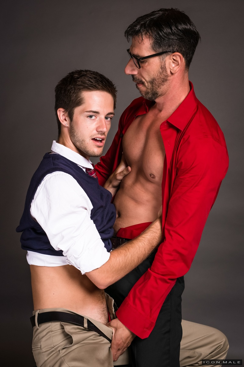 IconMale Bryce Acton Italian professor Tony Salerno dorm room young naked college student boy school uniform big thick dick low hanging balls 018 gay porn sex gallery pics video photo - Bryce Action and Tony Salerno hardcore ass fucking