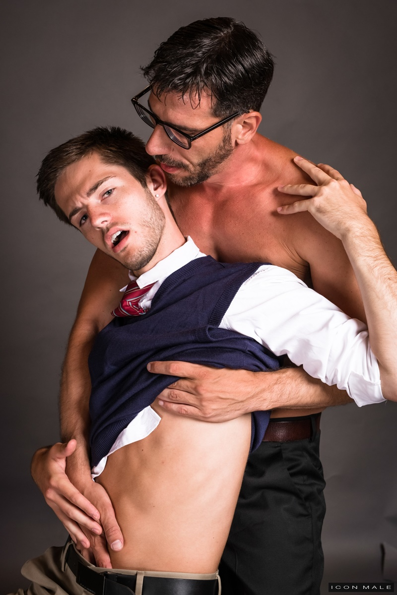 IconMale Bryce Acton Italian professor Tony Salerno dorm room young naked college student boy school uniform big thick dick low hanging balls 020 gay porn sex gallery pics video photo - Bryce Action and Tony Salerno hardcore ass fucking