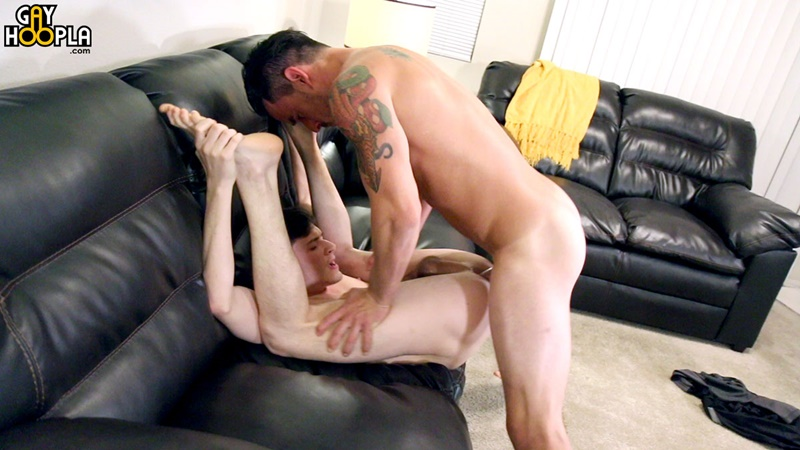 GayHoopla Blake Jackson first gay experience Neal Peterson big thick dick boner ass fucking legs behind head bust cum load hard cock doggystyle 009 gay porn sex gallery pics video photo - After being hard fucked doggystyle Blake Jackson pumps a major cum load into Neal Peterson's mouth
