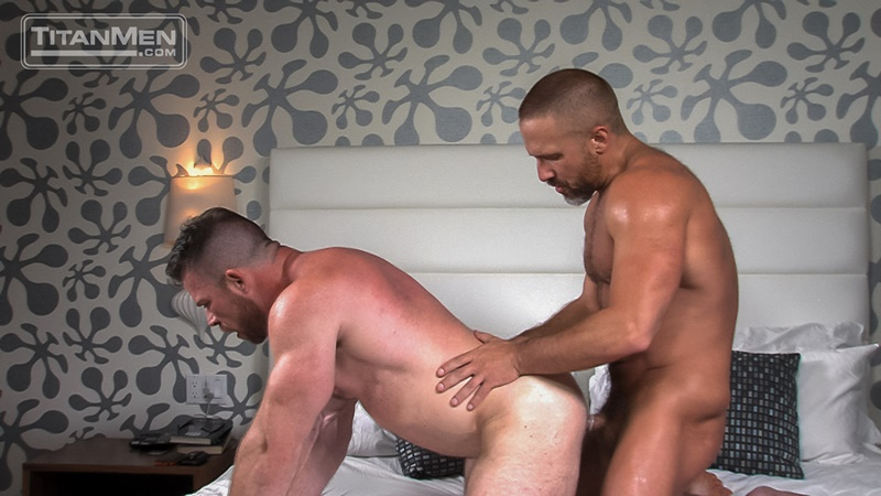 TitanMen sexy naked older mature men Dirk Caber tight bubble butt ass hole fucked Liam Knox huge thick dick anal rimming 019 gay porn sex gallery pics video photo - Dirk Caber's tight bubble butt ass hole fucked by Liam Knox huge thick dick