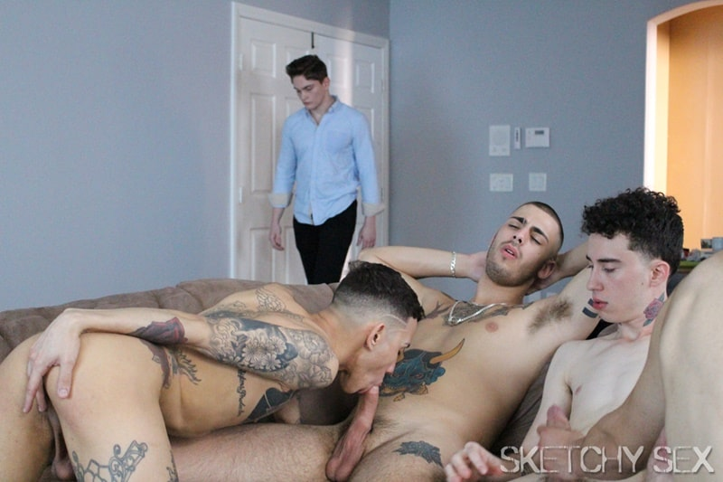 SketchySex gay porn hot naked young college tattoo dudes big dick sex pics dirty 001 gallery video photo - My ass has never been fucked this good