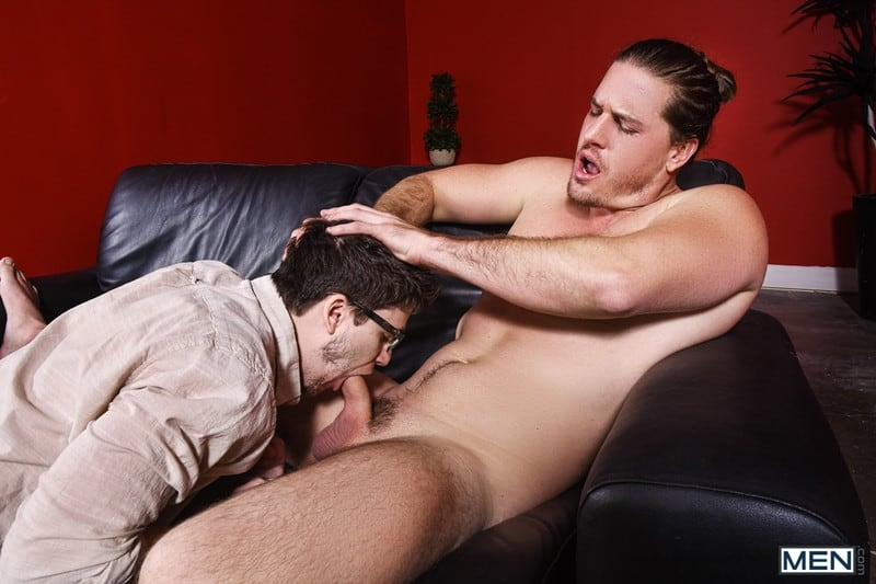 Men for Men Blog Gay-Porn-Pics-001-Will-Braun-Kip-Johnson-Long-haired-muscle-hunk-bottom-boy-big-erect-cock-Men Long haired muscle hunk Kip Johnson bottoms for Will Braun's big erect cock Men
