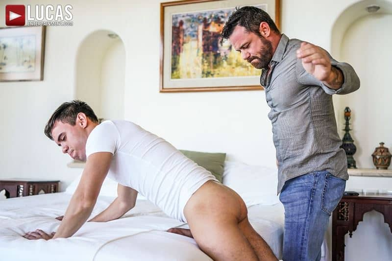 Daddy top Sergeant Miles huge thick raw dick breeds sexy young hottie Oliver Hunt tight bubble ass 010 gay porn pics - Daddy top Sergeant Miles's huge thick raw dick breeds sexy young hottie Oliver Hunt's tight bubble ass