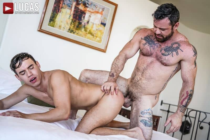 Daddy top Sergeant Miles huge thick raw dick breeds sexy young hottie Oliver Hunt tight bubble ass 019 gay porn pics - Daddy top Sergeant Miles's huge thick raw dick breeds sexy young hottie Oliver Hunt's tight bubble ass