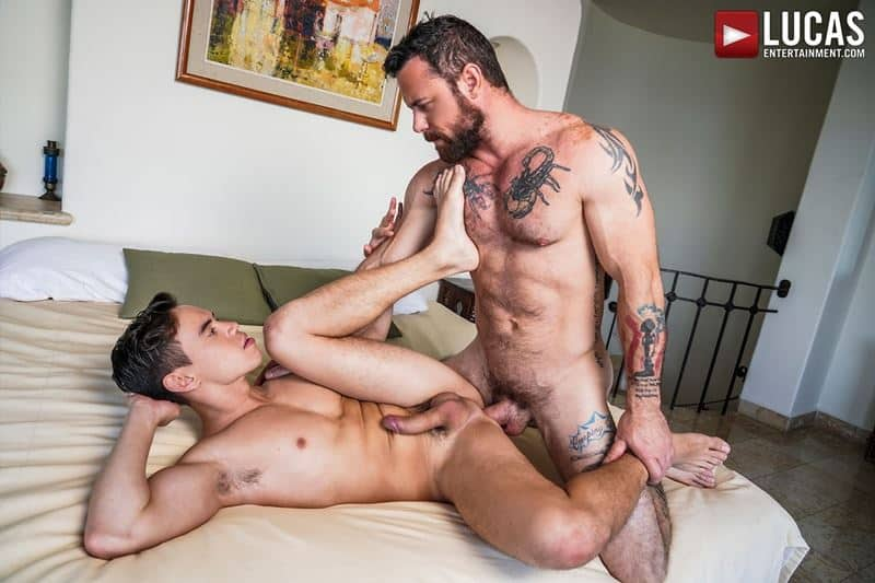 Daddy top Sergeant Miles huge thick raw dick breeds sexy young hottie Oliver Hunt tight bubble ass 024 gay porn pics - Daddy top Sergeant Miles's huge thick raw dick breeds sexy young hottie Oliver Hunt's tight bubble ass