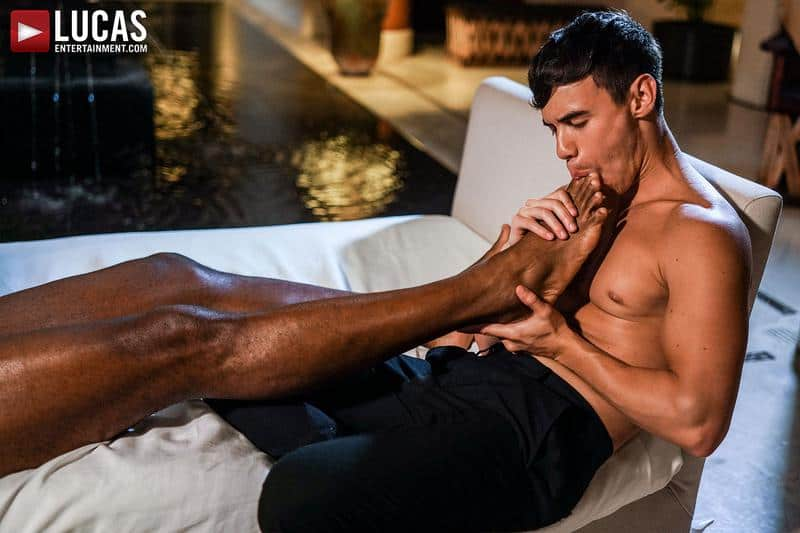 Sexy young stud Oliver Hunt hot hole bare fucked Andre Donovan huge thick black dick 11 gay porn pics - Sexy young stud Oliver Hunt's hot hole bare fucked by Andre Donovan's huge thick black dick