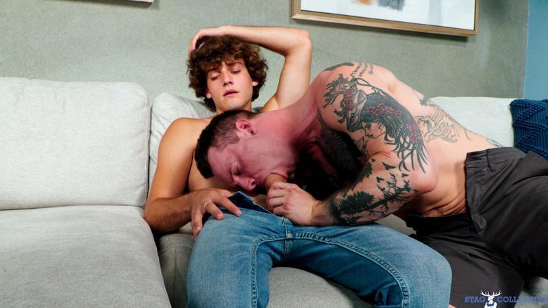 Curly haired young stud Blake Wilder bareback fucks tattooed hunk Tyler James hot asshole 12 gay porn pics - Curly haired young stud Blake Wilder's bareback fucks tattooed hunk Tyler James's hot asshole