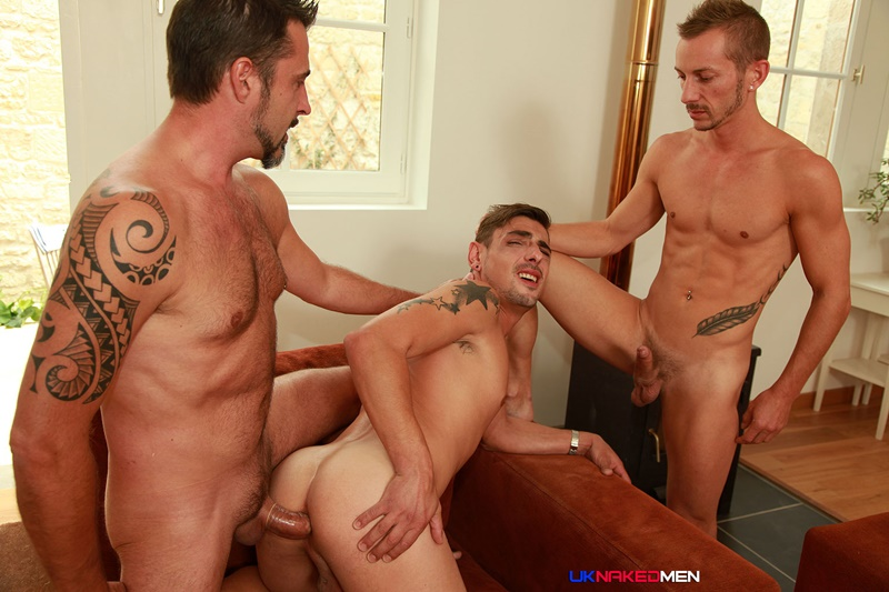 UKNakedMen Threesome top guys Nick Spears Iago Torres horny Nils Angelson ass hole huge uncut cocks fuck suck anal rimming spit roasting 005 gay porn tube star gallery video photo - Hardcore butt fucking threesome Nils Angelson, Nick Spears and Lago Torres