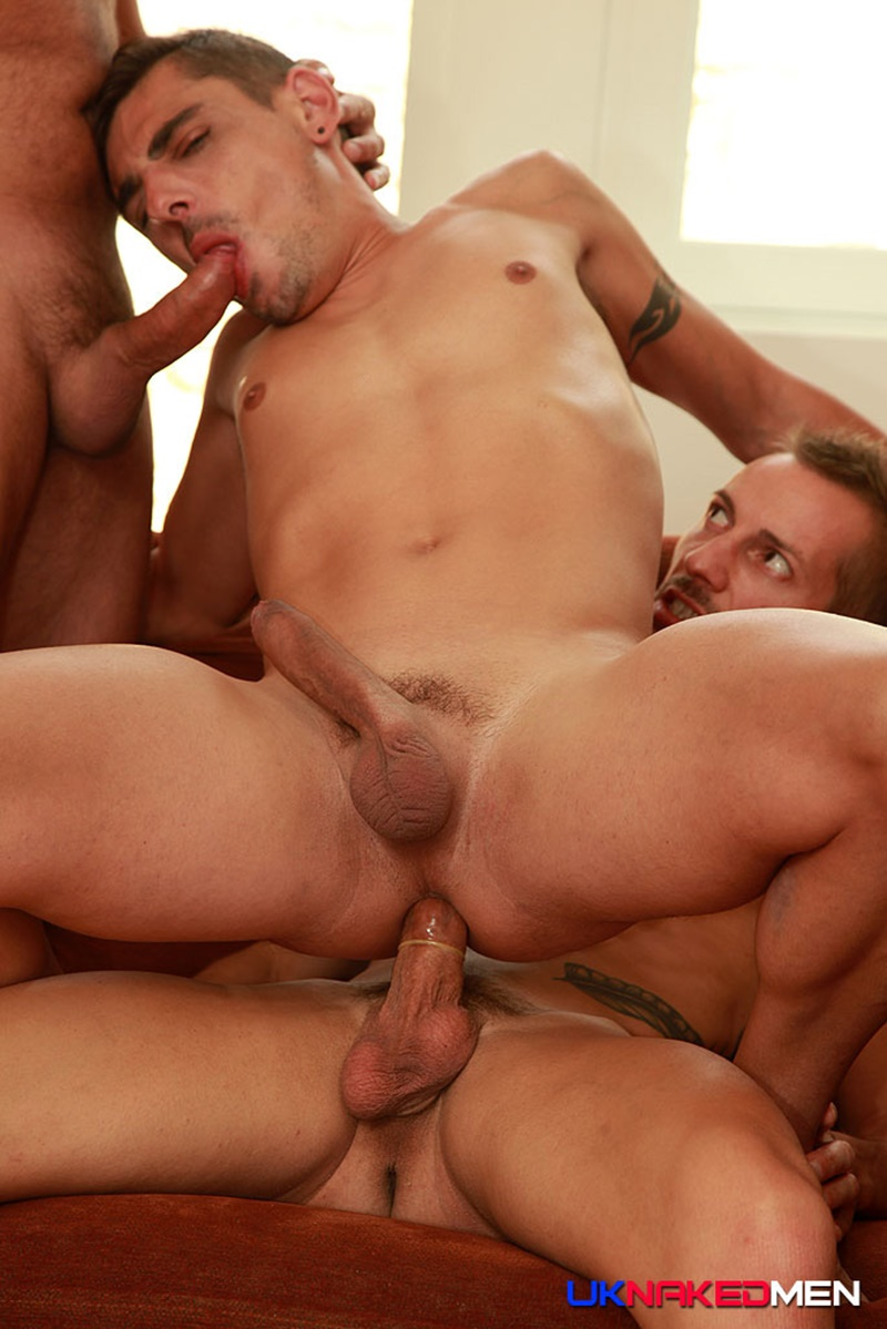 UKNakedMen Threesome top guys Nick Spears Iago Torres horny Nils Angelson ass hole huge uncut cocks fuck suck anal rimming spit roasting 008 gay porn tube star gallery video photo - Hardcore butt fucking threesome Nils Angelson, Nick Spears and Lago Torres
